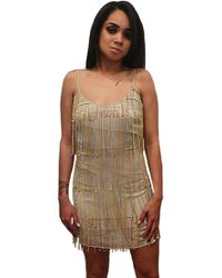 Sheri Bodell Clothing Sheri Bodell Tank Dress with Chains - Lyst