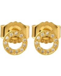 Brooke Gregson - Gold Open Circle Diamond Earrings - Lyst