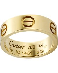 Cartier Love 18Ct Yellow-Gold Ring - Lyst
