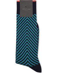 Duchamp Zig Zag Stretch Cotton Socks - Lyst