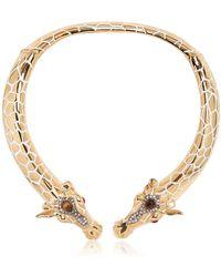 Roberto Cavalli Giraffe Necklace - Lyst