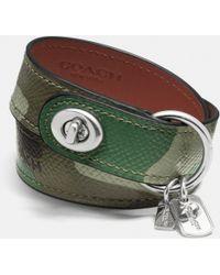 Coach Camo Leather Bracelet - Lyst