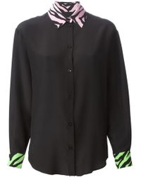 Moschino Cheap & Chic Animal Print Detail Shirt - Lyst