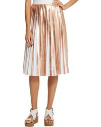 Raoul Foil Pleated Skirt - Lyst
