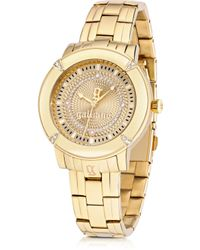 John Galliano - The Decorator Gold Tone Stainlees Steel Womens Watch - Lyst