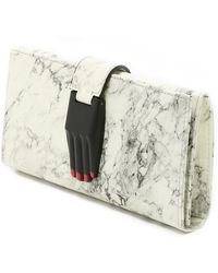 Opening Ceremony - Marbled Misha Wallet - Off White Multi - Lyst