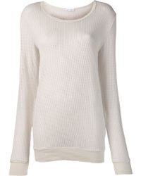 Lacausa Mesh Pullover Sweater in Natural | Lyst