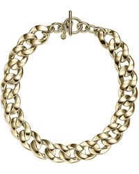 Michael Kors Curbchain Toggle Necklace Golden - Lyst