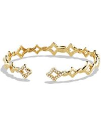 David Yurman Venetian Quatrefoil Singlerow Bracelet with Diamonds in Gold - Lyst