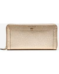 Cole Haan | gold Eva Continental Zip Wallet | Lyst