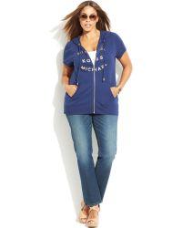 Michael Kors Michael Plus Size Short-Sleeve Logo Hoodie - Lyst