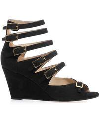 Chloé Cyllia Multistrap Wedge Sandals - Lyst