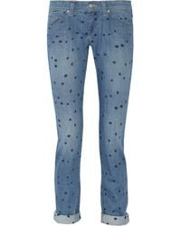 Etoile Isabel Marant Rumba Embroidered Mid Rise Skinny Jeans - Lyst