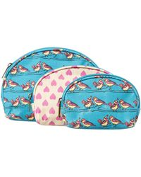 Ollie & Nic - Blue Bird Print Cosmetic Set - Lyst