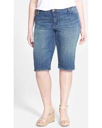 DKNY Ludlow Stretch-Denim Shorts blue - Lyst