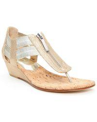 ac4ac90ed775 ... Dori Metallic Demi-Wedge Sandal