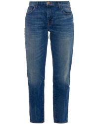 J Brand Ellis Cropped Straight-Leg Jeans - Lyst