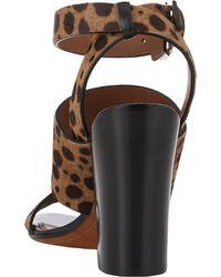 Givenchy Animalprint Anklestrap Sandals - Lyst