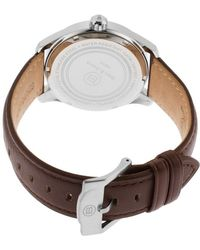 Ben Minkoff - Marshall Multi-function Brown Genuine Leather Black Dial Ss - Lyst