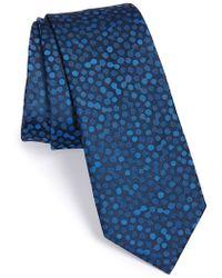 Lanvin - Circular Pattern Silk Tie - Lyst