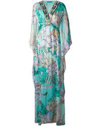 Matthew Williamson Floral-Print Beaded Beach Dress - Lyst