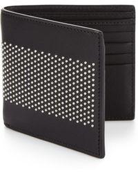 Alexander McQueen   Studded Leather Billfold Wallet   Lyst