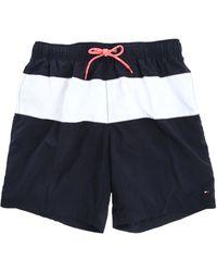 Tommy Hilfiger Boris Navy Swimming Shorts - Lyst