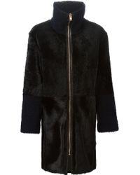 Avelon - Zip Fur Coat - Lyst