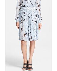 Proenza Schouler Print Silk Chiffon Skirt - Lyst