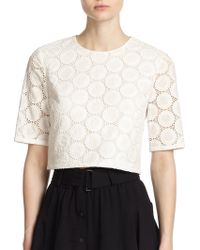 A.L.C. Fremont Cotton Eyelet Top - Lyst