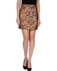 Celine Multicolor Mini Skirt - Lyst