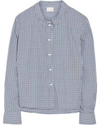 Band Of Outsiders Gingham Checked Cotton Shirt - Lyst