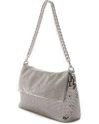 Whiting & Davis Fold Metallic Shoulder Bag - Pewter - Lyst