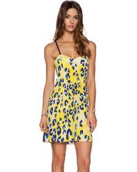 Matthew Williamson Yellow Strappy Dress - Lyst