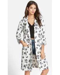 Glamorous - Print Long Coat - Lyst