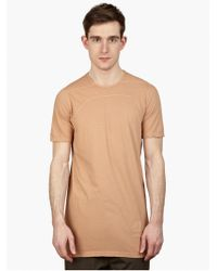 DRKSHDW by Rick Owens Men'S Rose Cotton T-Shirt beige - Lyst