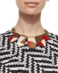 Lela Rose - Colorblock Wooden Necklace - Lyst