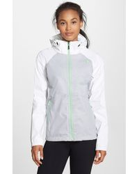 The North Face Waterproof Hooded Jacket gray - Lyst