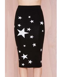 Nasty Gal Seeing Stars Knit Skirt - Lyst