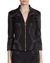 Versace Flocked Deco Zip Jacket - Lyst