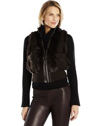 Belle Fare Real Rabbit Fur & Cable Knit Vest - Lyst