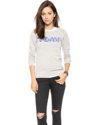 Rxmance - Peace Sweatshirt - Oatmeal - Lyst