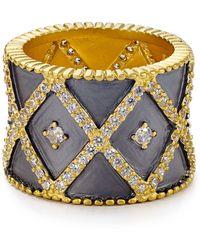 Freida Rothman - Striped Cigar Band Ring - Lyst