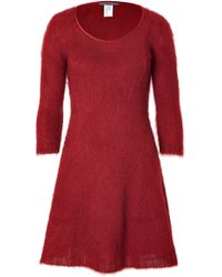 Alberta Ferretti Mohair Blend Scoop Neck Dress - Lyst