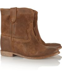 Isabel Marant Crisi Washed-Suede Ankle Boots - Lyst