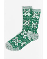 O'Hanlon Mills - Snowflakes Boot Sock - Lyst