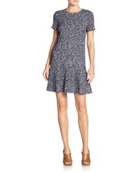 Tory Burch Margarite Tweed Dress - Lyst