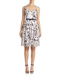 Milly Natalie Fil Coupe Cocktail Dress - Lyst