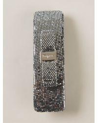 Ferragamo 'Vara' Bow Hair Clip silver - Lyst