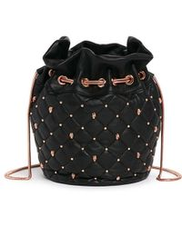 Thomas Wylde Skull Stud Quilted Leather Bucket Bag - Lyst